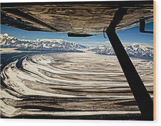 Malaspina Glacier Alaska Wood Print