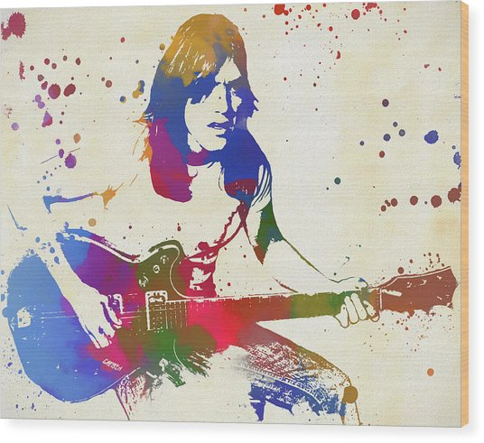 Malcolm Young Wood Print
