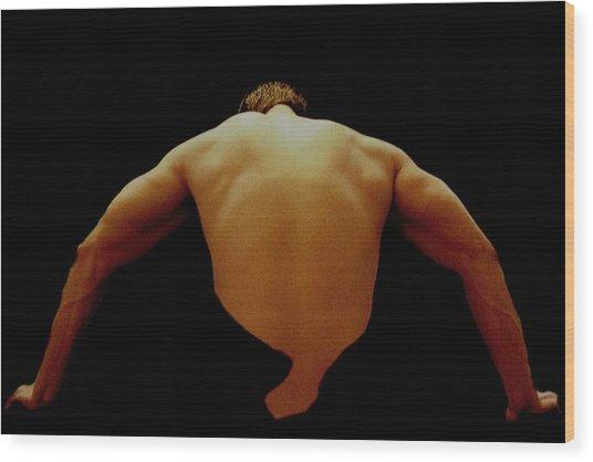Male Back Study - 8x12 Wood Print by B Nelson