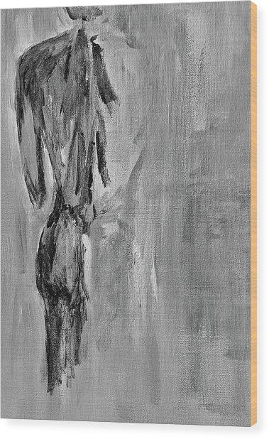 Male Nude 3 Wood Print