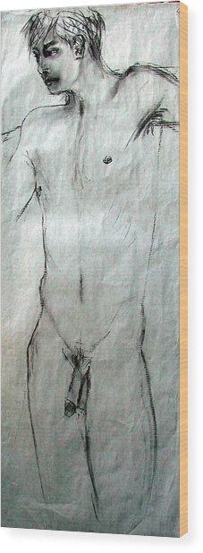 Male Nude 4798 Wood Print