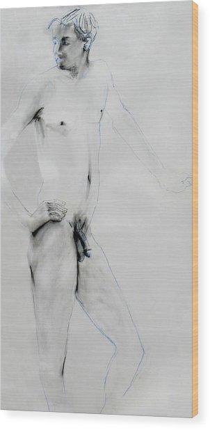 Male Nude 4803 Wood Print