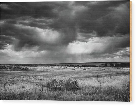 Malheur Storms Clouds Wood Print