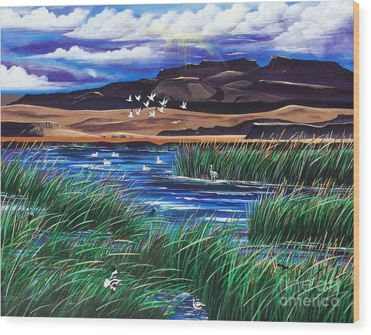 Malhuer Bird Refuge Wood Print