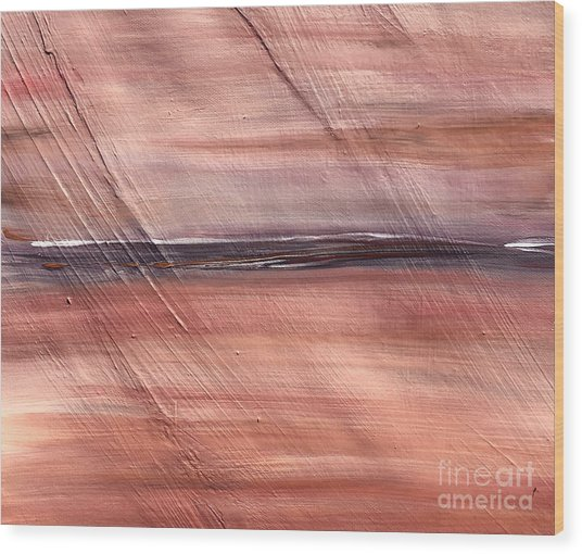 Malibu #32 Seascape Landscape Original Fine Art Acrylic On Canvas Wood Print