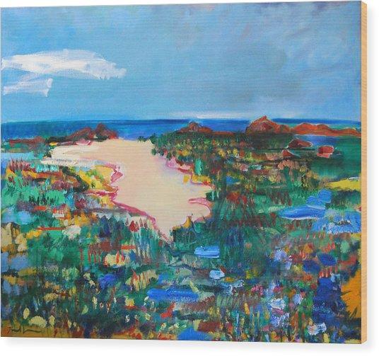 Malibu Marshes Wood Print by Zolita Sverdlove