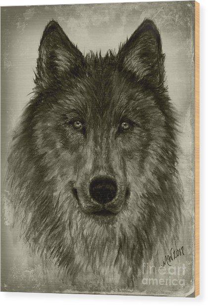 Mama Wolf Vintage Wood Print