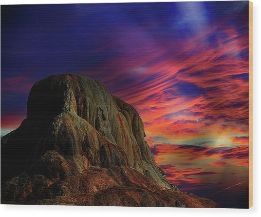 Mammoth Sunset Wood Print