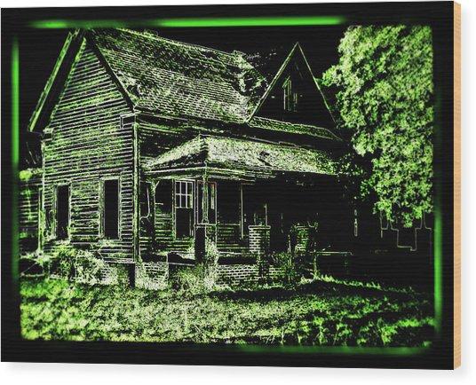 Man Abandons Nature Reclains Wood Print by Leslie Revels