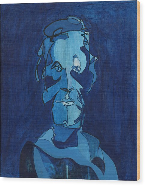 Man In Blue Wood Print