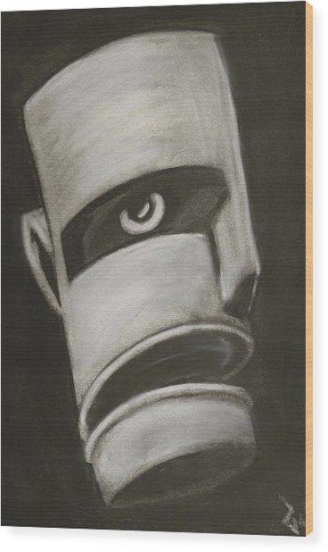 Man In Closet 2 Wood Print by Rick Stoesz