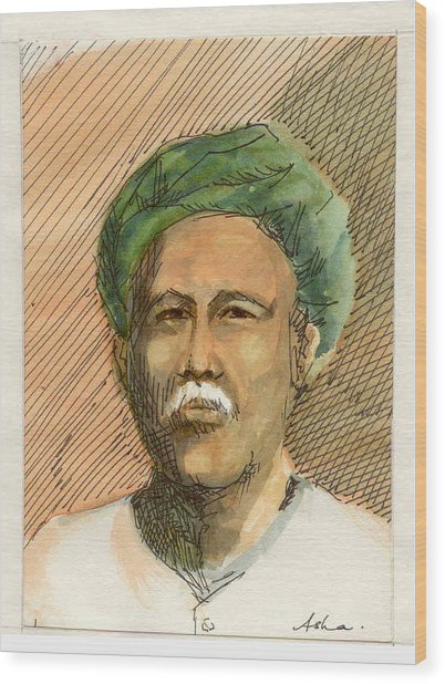 Man In Turban Wood Print