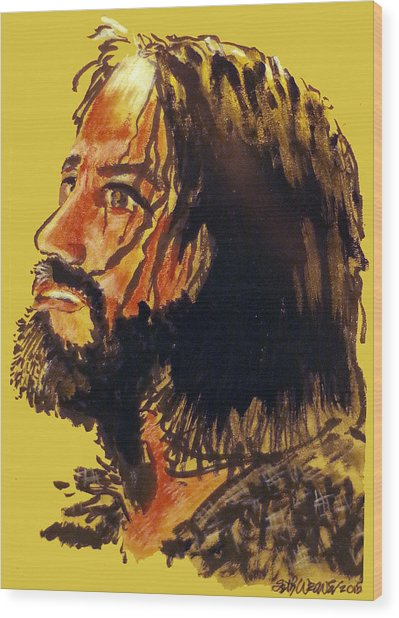 Man Of Sorrows Wood Print