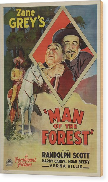Man Of The Forest 1933 Wood Print