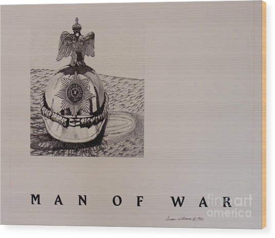 Man Of War Wood Print