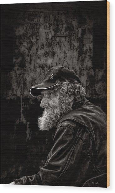 Man With A Beard Wood Print