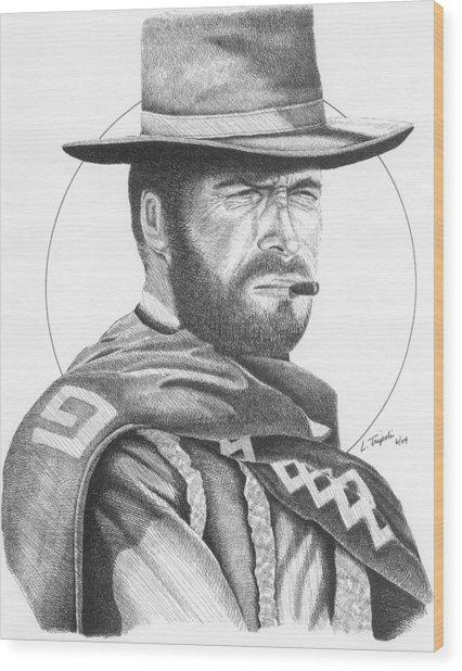Man With No Name Wood Print