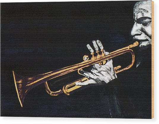 Man With The Horn -  Skip Martin   Wood Print