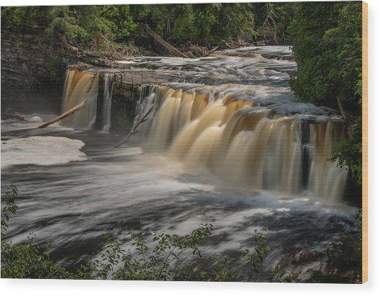 Manabezho Falls Wood Print