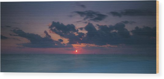 Manasota Sunset Wood Print by Ryan Heffron