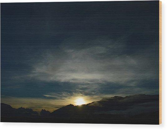 Manastash Sunrise Wood Print