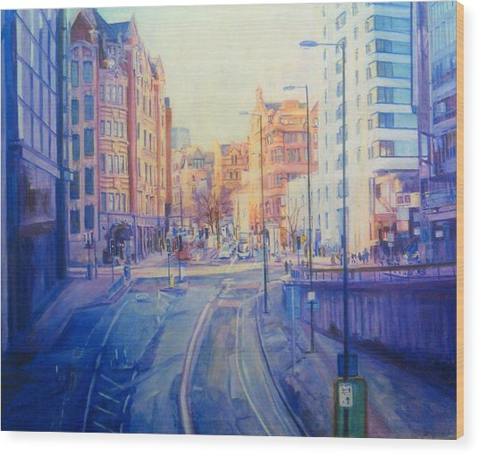 Manchester Light And Shade Wood Print
