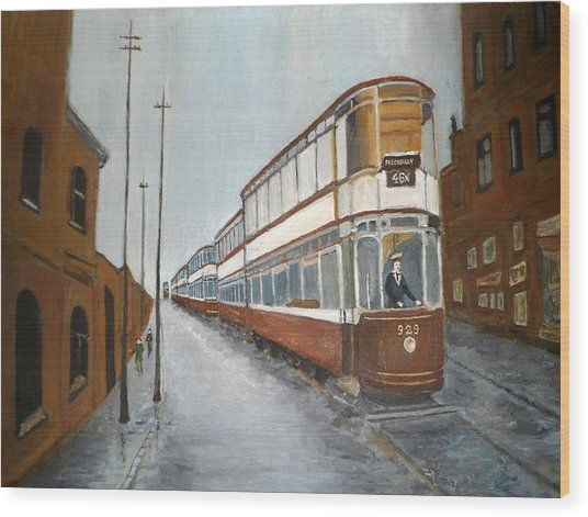 Manchester Piccadilly Tram Wood Print