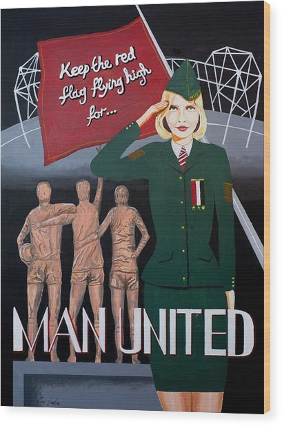 Manchester United Poster Wood Print