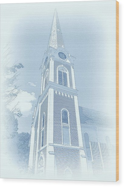 Manchester Vt Church Wood Print