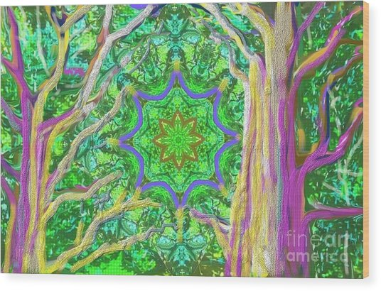 Mandala Forest Wood Print