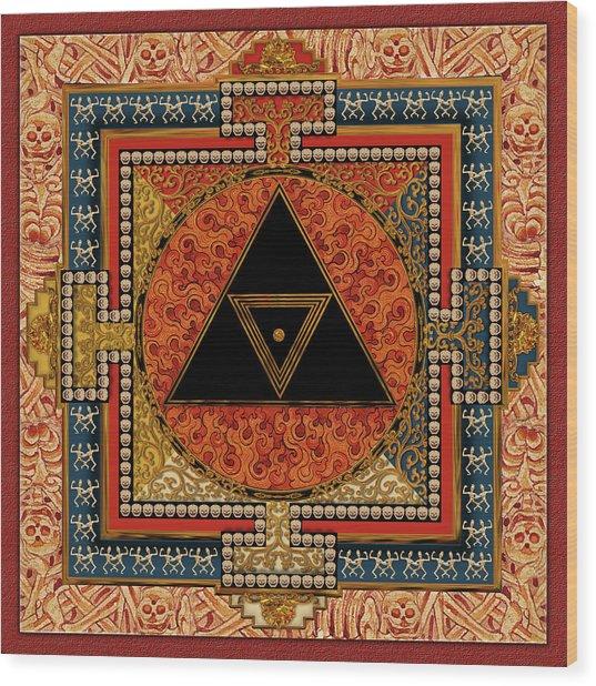 Mandala Kalichakre For Her Wood Print by Mark Myers