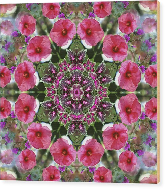 Mandala Pink Patron Wood Print