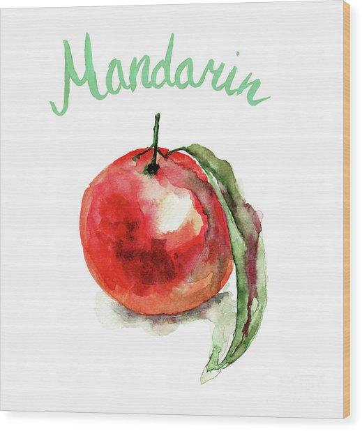 Mandarin Fruits Wood Print
