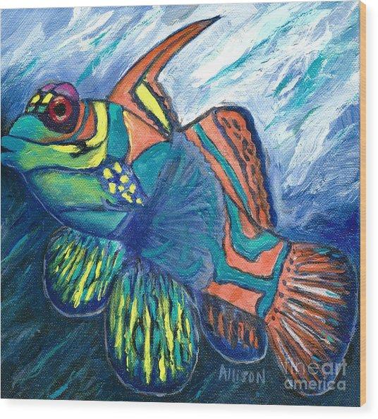 Mandarinfish Wood Print