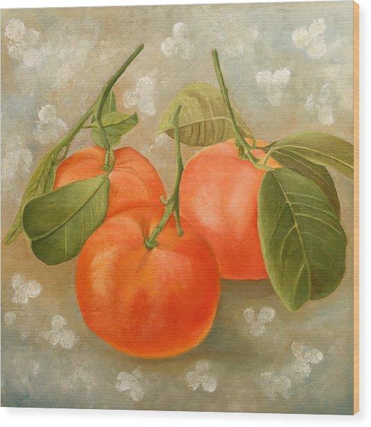 Mandarins Wood Print