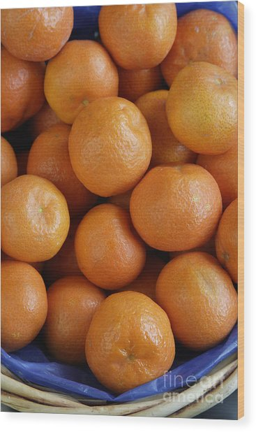 Mandarins Wood Print by Steve Outram