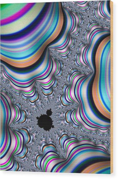 Mandelbrot Set In Colorful Fractal Valley Wood Print