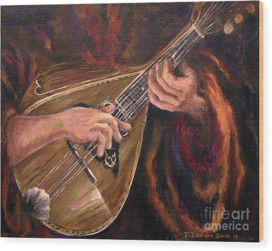 Mandolin Wood Print by Deborah Smith