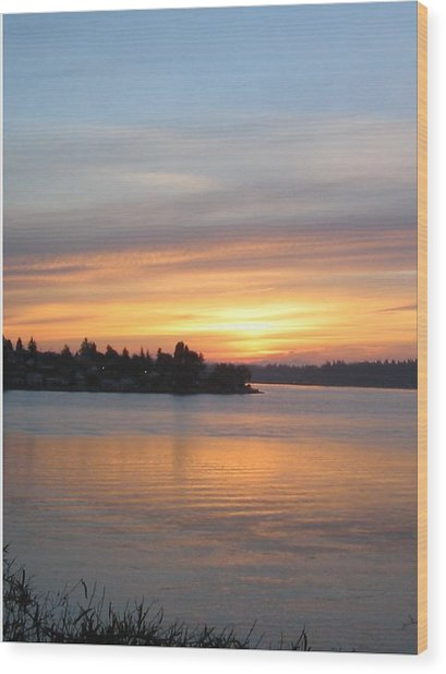 Manette Sunrise Wood Print by Valerie Josi