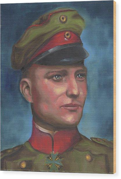 Manfred Von Richthofen The Red Baron Wood Print