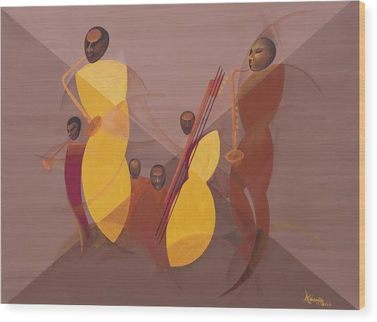 Mango Jazz Wood Print