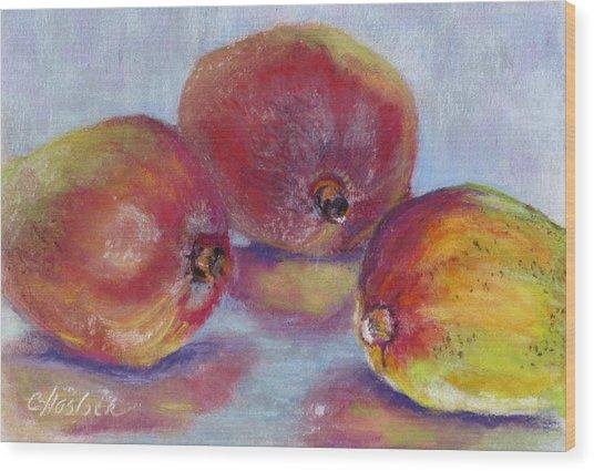 Mangos Wood Print by Carole Haslock