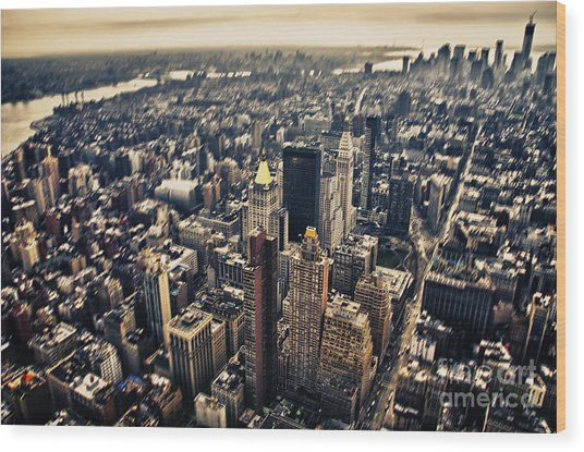 Manhattan Wood Print by Alessandro Giorgi Art Photography