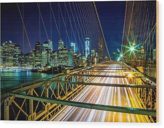 Manhattan Bound Wood Print
