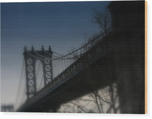 Manhattan Dreamin' Wood Print by Susan Crittenden