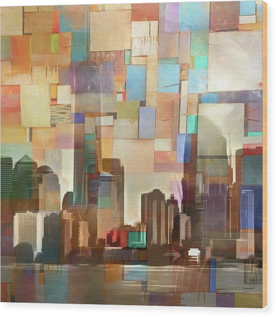 Manhattan Impression Wood Print by Lutz Baar