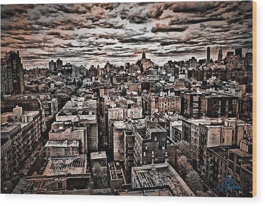 Manhattan Landscape Wood Print