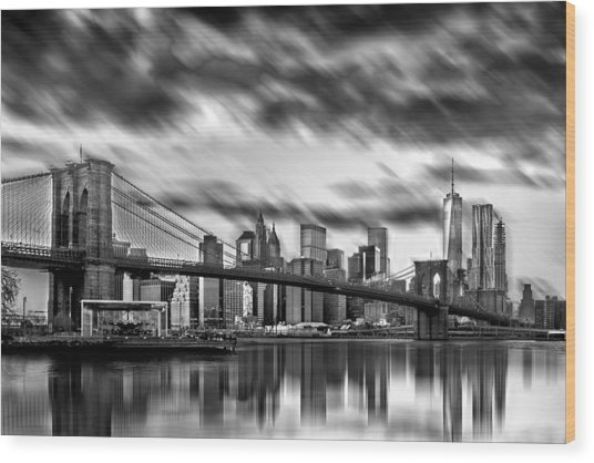 Manhattan Moods Wood Print