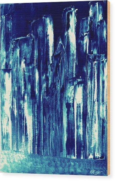 Manhattan Nocturne Wood Print