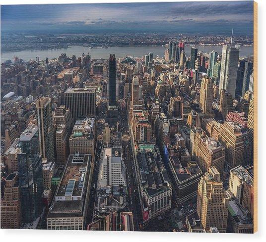 Manhattan, Ny Wood Print
